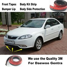 For Daewoo Gentra / Car Bumper Lips / Spoiler For Car Tuning / Body Kit Strip / Front Tapes / Body Chassis Side Protection
