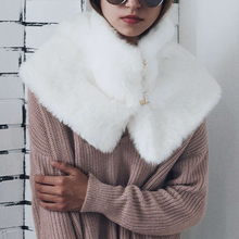 Fluffly Fur Scarves Sexy Leopard Elegant Cape Poncho Soft Winter Warm Scarf Neck Warmer Ring Buckles Collar 6Q0235