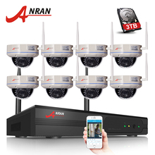 ANRAN 8CH Wifi NVR Kits 3TB HDD H.264 1080P HD Wireless WIFI IP Camera 2MP Home Security CCTV Vidoe Surveillance System