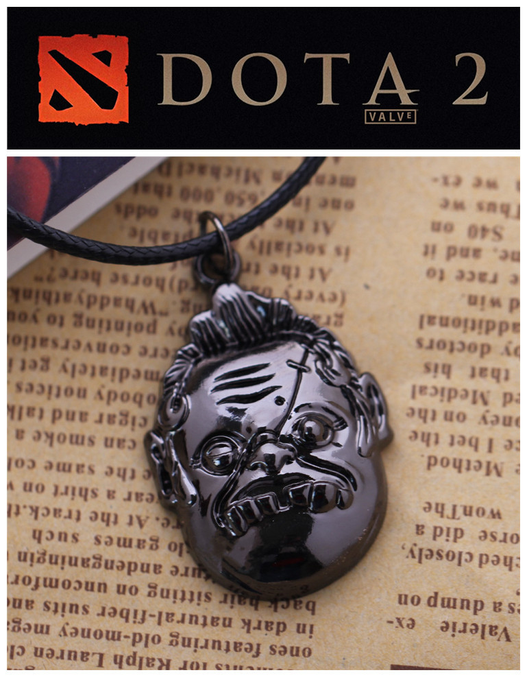 10 PCS/LOT DOTA2 Toys Pudge Doll Necklace Keychain Dota 2 Figure keychains 2 style for Options<br><br>Aliexpress