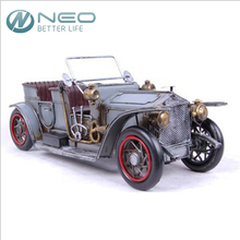 "NEO 36cm(14.1"")Handmade Metal Handicrafts Gran Torino Vintage Classic Rolls-Royce Open Car Model Gift Home Decor Ornaments"