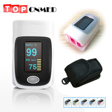 with Rubber Cover with Pouch Finger pulse oximeter SPO2 PR monitor O LED 6 Display Modes Blood Oxygen Monitor Ossimetro oxymetre