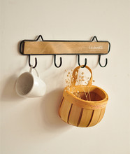 zakka do the old wood vintage French mini coat coat hooks decorative wall hanging home accessories towel rack