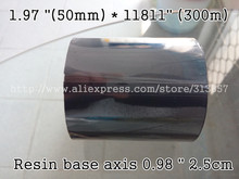 "label printer machine Address Label use Resin base Ribbon 1.97 ""(50mm) * 11811"" (300m) For paper printer axis 0.98 "" 2.5cm"