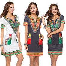 2019 African Clothes for Women 3XL Oversize Women Sexy Dashiki Dress Summer  Print African Dress For Women Traditional Clothing 8e418dff203b