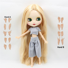 ICY factory blyth doll bjd neo blonde mix yellow hair long straight hair free shipping 280BL2428/0720 1/6 30cm gift toy