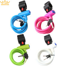 4 Color Bicycle Lock Bike Cycle Heavy Duty Coil Combination Security Lock Steel Spiral Cable Bicycle Lock