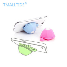 TMALLTIDE Cute Phone Holder Stand Silicone Turtle Earphone Headphone Winder Cable for Iphone 6 6s 7 Plus for Samsung for Xiaomi