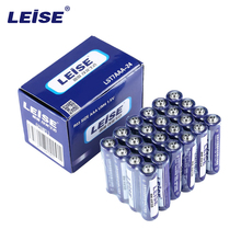 Leise AAA Performance Carbon Batteries (24-Pack) Durable Stable Explosion-Proof R03 Size aaa UM4 1.5V Battery Packaging May Vary(China)