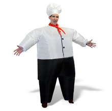 Halloween Cosplay Outdoor performance props Costume party chef inflatable clothes Fancy Full Body Dress