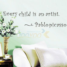 Every Child Is An Artist home decoration wall decals ZooYoo8155 decorative adesivo de parede removable vinyl wall stickers