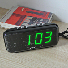 Big numbers Digital Alarm Clocks EU Plug AC power Electronic Table Clocks With 1.8 Large LED Display home decor gift for Kids(China)