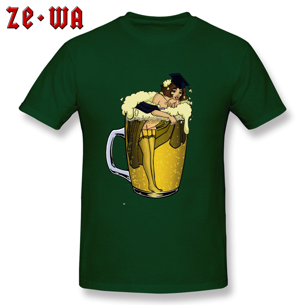 Man Top T-shirts pin up girl in beer Funny Tops Tees Pure Cotton Round Neck Short Sleeve Design T Shirt Summer/Autumn pin up girl in beer dark