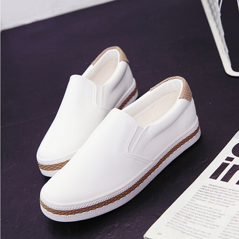 Fashion Simple Slipony Women Loafers Shoes Spring Casual Ladies Dress Pointed Toe Shallow White Walking Comfortable Shoes Size 8<br><br>Aliexpress