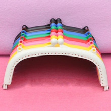 8PCS 15.5CM High Quality Candy Color Plastic Porous Purse Frame For Kiss Clasp Coin Cluth DIY Handmade Sewing Bag Accessories