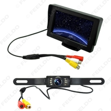 4.3 inch TFT LCD Digital Monitor Reversing Backup License Plate Camera Car Rear View System #FD-3596