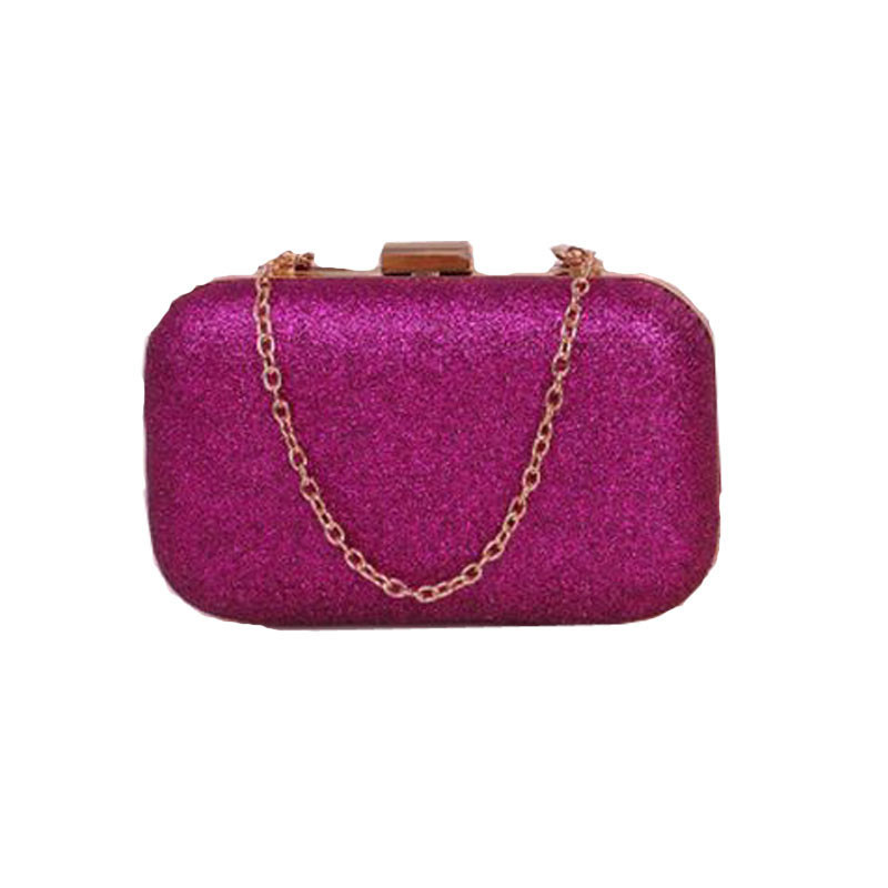 2016 New Fashion Women Clutch Box Evening Party Glitter Chain Hand Bags Wallet Famous Brands lady Leather Bags<br><br>Aliexpress