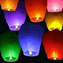 Free Shipping 20 Pack Chinese Sky Lanterns Wish Party Wedding Birthday-Multi Colors