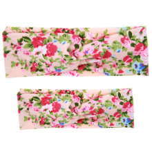 2PCS Headband Sets Mother Kids Girls Twisted Headband Floral BowKnot Hairband Turban Head Wrap Hair Accessories
