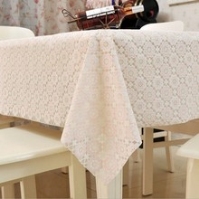 Rectangle Table Cover Cloth Knitted Vintage Knitting Hollow Out Banquet Kitchen Dining Wedding Party 1pcs Washable