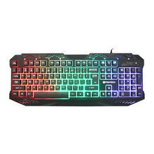 FANTECH K10 Professional Backlight Gaming Pro Keyboard Blue Switches Metal Wired USB