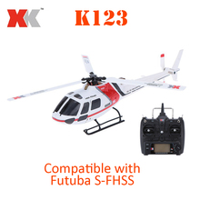 Original XK AS350 K123 6CH 3D 6G System Brushless Motor RTF RC Helicopter(China)