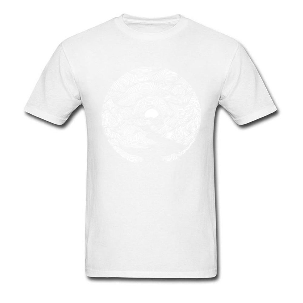 Fjord Sunrise O-Neck Top T-shirts Summer Fall Tops Shirt Short Sleeve Designer 100% Cotton Casual Tee Shirts Printed On Men Fjord Sunrise white