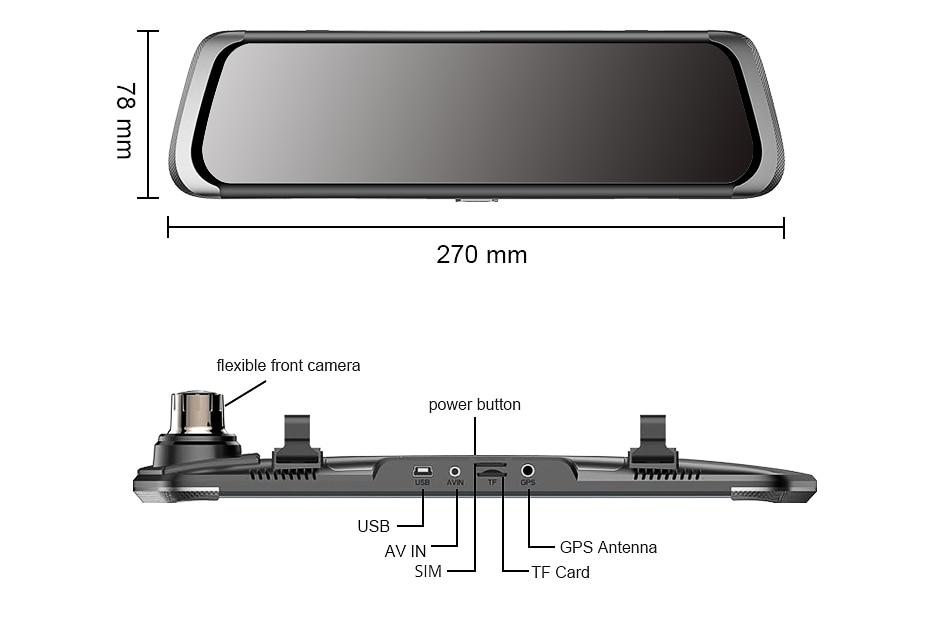 HTB16S00zAKWBuNjy1zjq6AOypXat - Car DVR 4G Full HD 1080P Android Rear View Mirror Camera