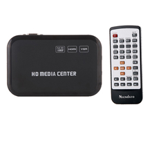 1080P HD Media Video player Center Surpport mkv H.264 with VGA HDMI USB AV MMC/SD Port with Remote Control(China)