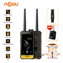 Original Nomu T18 IP68 Waterproof Walkie Talkie Mobile Phone Android 7.0 MTK6737T Quad Core 3GB RAM 32GB ROM 5200mAh Fingerprint