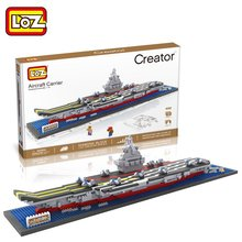 Aircraft Carrier Liaoning 3D Diamond Building Blocks Aircraft Carrier Boat LOZ Mini Nano Bricks Children Intelligence Model Toys