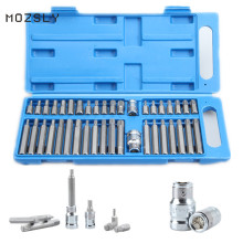 40 piece Hex Star Torx Spline Socket Bit Set Tool Kit Garage Tools Equipment