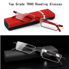 2017 Fashion Folding TR90 Tinted Reading Glasses Women Men Ultra lentes para leer Lightweight Presbyopic Eyeglasses 1.0 1.5 2.0