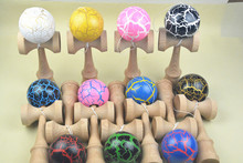 MOQ 60 piece ball crack jumbo Kendama Ball Japanese Traditional game in stock  size: 25CM*8cm  Random Color