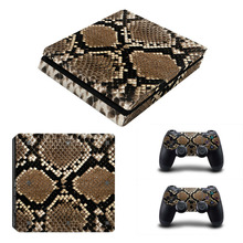 Snake Pattern Painted Design Vinyl Decal Skin Sticker For PS4 For PlayStation 4 Host Body Paste + Two Handles Sticker