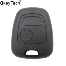 OkeyTech Replacement Auto key Shell Without Blade For Peugeot 307 107 207 407 Remote Car Key Fob Case Replacement Shell Cover(China)