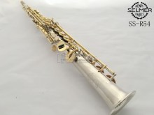 New French Selmer soprano saxophone nickel plated gold key B flat one tube saxophone music DHL / UPS shipping
