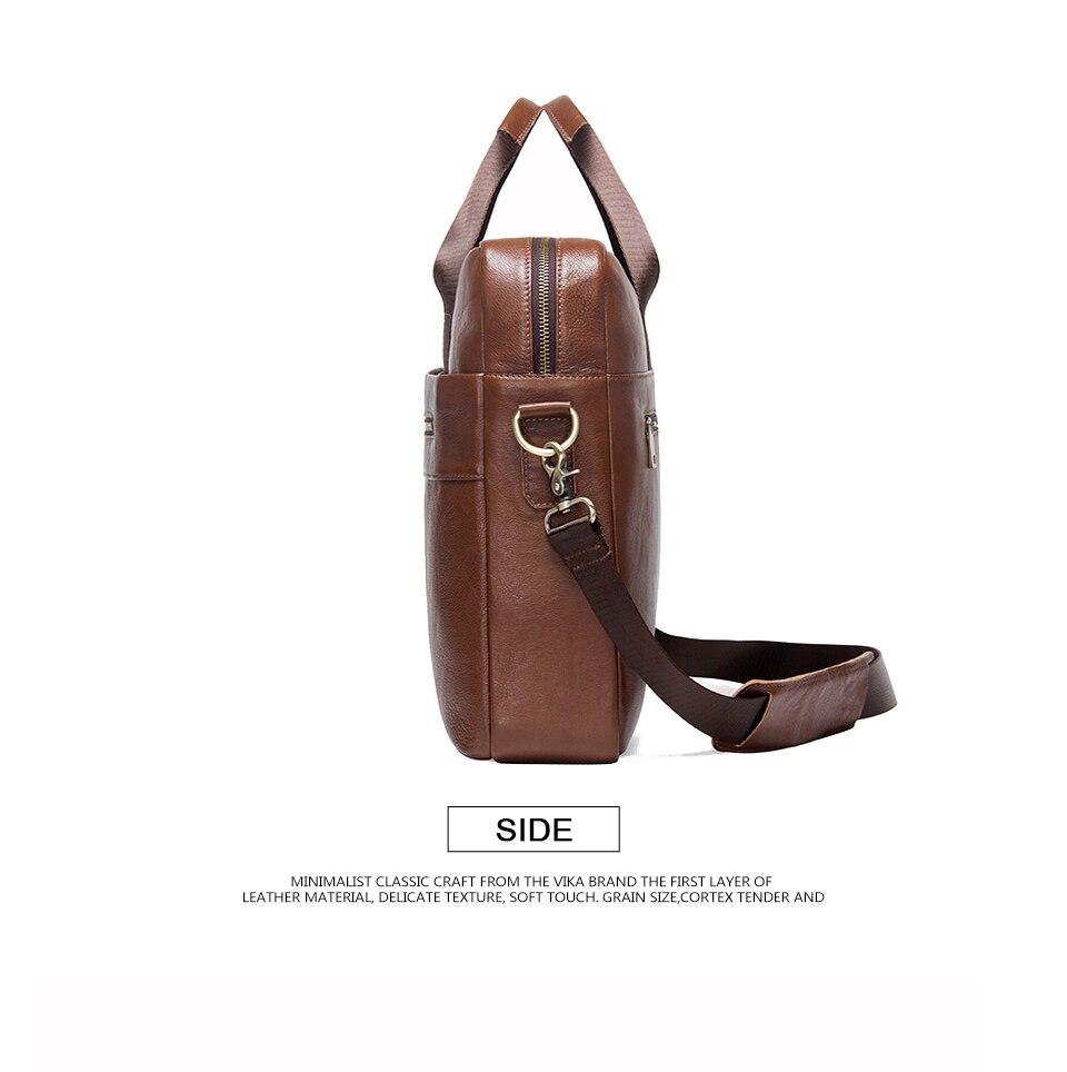 """حقيبة لابتوب من الجلد الطبيعي لرجال الاعمال 15.6"""" 9"""