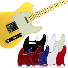 3Ply Aged Pearloid Pickguard Tele Style Guitar Pickguard Aged White Pearl Musical Instrument Guitar Parts Accessories 7 Colors(China)