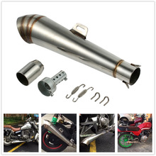 Stainless steel 51mm Modified Motorcycle GP Slip-On Exhaust Muffler Silencer Pipe motorcycle