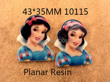 5Y10115 FreeShipping 43*35mm flat back princess planar resin diy home holiday decoration crafts accessories mini order$ 6.00