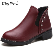 E TOY WORD Classics Boots Women 2017 Brand Shoes Woman Soft Leather Ankle Boots for Women Wedges Breathable Platform Boots