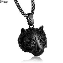 Iftec 2017 Tiger Necklace Men Hip Hop Jewelry Collares Collier Stainless Steel Necklaces Pendants Anime Mens Friendship Gift