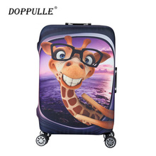 DOPPULLE Elastic Luggage Protective Cover For 19-32 inch Trolley Suitcase Protect Dust Bag Case Child Cartoon Travel Accessories