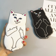 New Hot Pocket White Cat Soft Silicon Phone Back Cover Phone Case For iPhone 4 4S 5 5S SE 6 6S 7 6 Plus 6SPlus