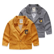 2017 spring new  baby  boys blazers children casual suits jackets British style 2-10 years