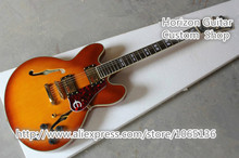 EPI ES 335 Classic Jazz Electric Guitar Sunburst Semi Hollow Body Double F Holes & Left Handed ES Guitar Available To Custom