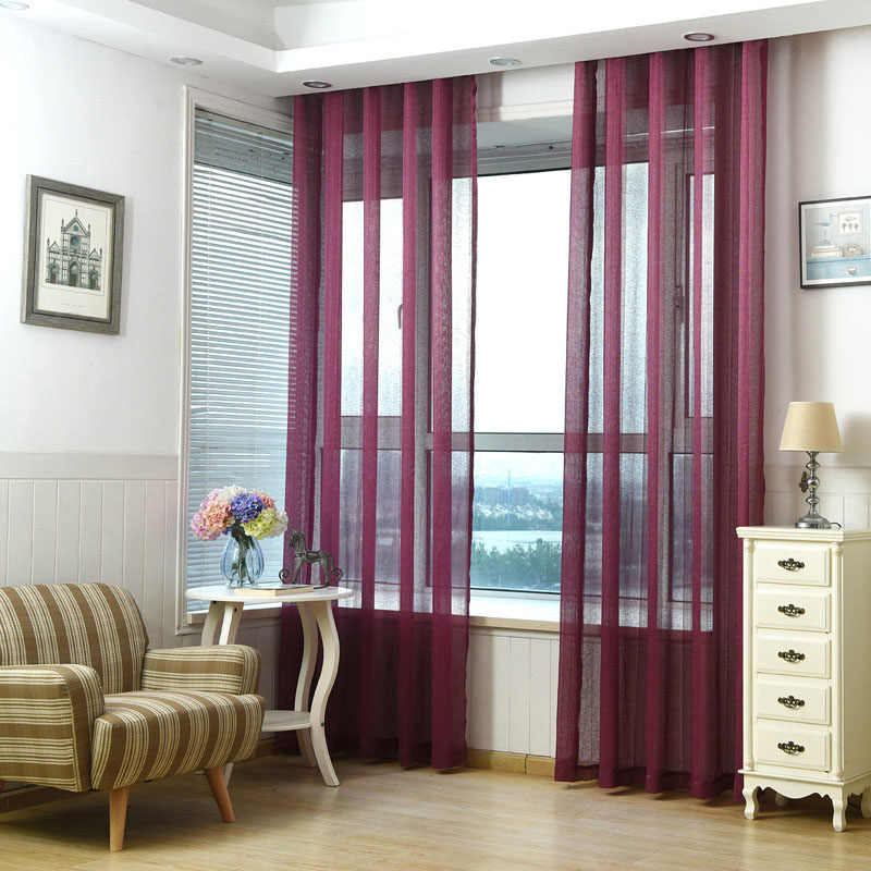 White Voile Sheer Curtains For Living Room Tulle Curtains For Bedroom Voile Curtain For Kitchen Window Cortinas Drapes 037&30