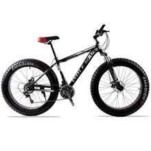"Buy bicycle Mountain Bike road bike Aluminum alloy frame 26x4.0"" 21/24speed Frame Snow Beach Oversized Bicycle Tire Dirt Bikes for $411.00 in AliExpress store"