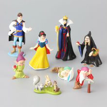 8 pcs/Lot Snow White & Seven Dwarfs Queen Prince Witch Classic PVC Toy Set Action Figures Toy Dolls Kids Gift